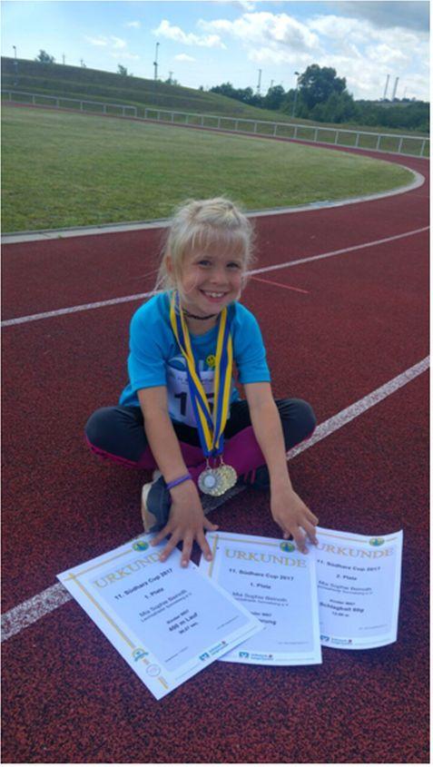 Erfolgreiche junge Athletinnen und Athleten des LA Sonneberg