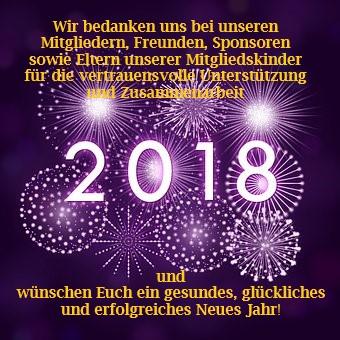 Neujahrsgrüsse sowie Wettkampf- und Veranstaltungskalender 2018