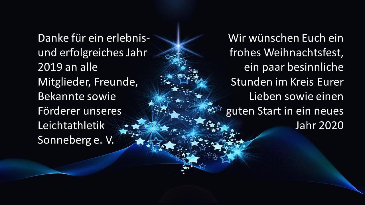 Weihnachts- und Neujahrsgrüße 2019